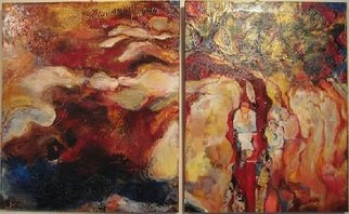 Hajni Yosifov; Torrents and Blessings, 2012, Original Painting Acrylic, 40 x 24 inches.