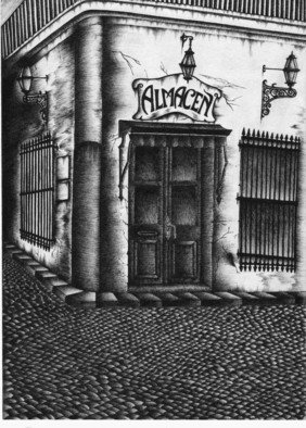 Gonzalo Di Paolo; Viejo Almacen, 2007, Original Illustration, 8 x 11 inches. Artwork description: 241  A very historic corner in the old Buenos Aires ...