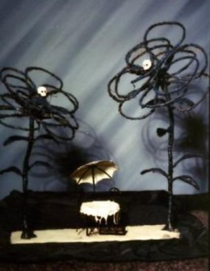 Paul Fucci; Cafe Voltaire, 1992, Original Sculpture Mixed, 30 x 27 inches.