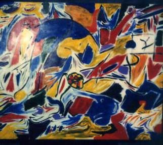 Paul Fucci; Untitled, 1998, Original Painting Acrylic, 48 x 36 inches.