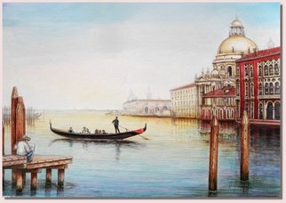 I. Joseph; Paintin Venice, 2012, Original Watercolor, 22 x 15 inches. Artwork description: 241        painting of the grand canal in venice            ...