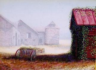 I. Joseph; Barn In The Mist, 2005, Original Painting Oil, 40 x 30 inches. Artwork description: 241  barns in upstate NY, impressionism ...