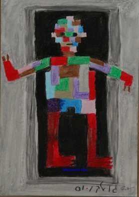 Harris Gulko; Mechanical Man, 2009, Original Painting Oil, 16 x 20 inches. Artwork description: 241 Number 1115...