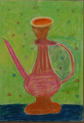 Harris Gulko; Old Jug By Nancy, 2003, Original Painting Oil, 18 x 12 inches. Artwork description: 241 Inspired by a work by my late Mother who used to say aEURoeWhen I die, I will be dead for such a long time.  So while I am alive, let me live the fullest with what time I have. aEUR  ...