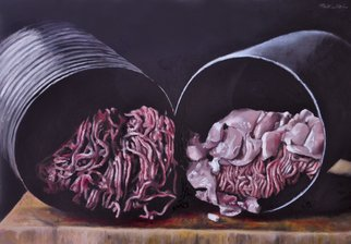Matthew Hickey; Convenient Cavities, 2012, Original Painting Oil, 24 x 18 inches.