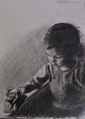 Matthew Hickey; Juliette, 2012, Original Drawing Pencil, 8 x 12 inches.
