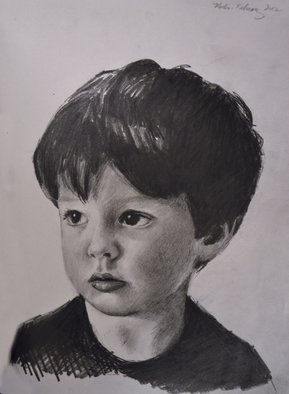 Matthew Hickey; Miles, 2012, Original Drawing Pencil, 8 x 12 inches.
