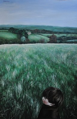 Matthew Hickey; Warksfield Head, 2012, Original Painting Oil, 32 x 48 inches.