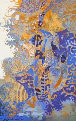 Hilary Pollock; The Reef Downunder C, 2010, Original Painting Acrylic, 2 x 3 feet.