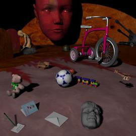 Artist: Hisham Zreiq , title: Childhood Lost, 2004, Original Computer Art