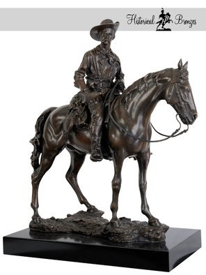Fernando  Andrea; Bronze Sculpture General ..., 2012, Original Sculpture Bronze, 7.5 x 17.3 inches. Artwork description: 241  i? 1/2General George Armstrong CusterSon of the Morning Stari? 1/2BY FERNANDO ANDREASCALE 16 BRONZE SCULPTURELIMITED EDITION 20 copiesCERTIFICATE OF AUTHENTICITY INCLUDEDWax Stamp and signature of the sculptorHISTORYInstantly recognizable as one of the top Wild West personalities, George A.  Custers fame spread all throughout the ...