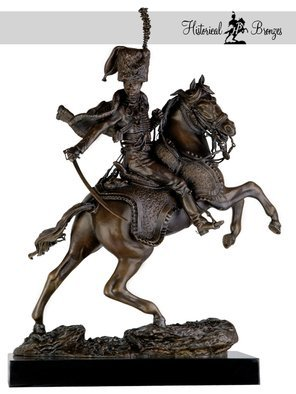 Fernando  Andrea; Officier De Chasseur A Ch..., 2014, Original Sculpture Bronze, 11.8 x 21.2 inches. Artwork description: 241  i? 1/2Officier de Chasseurs i? 1/2 Cheval de la Garde Impi? 1/2rial Chargeant, 1812 Lieutenant Alexandre Dieudonni? 1/2i? 1/2BY FERNANDO ANDREASCALE 16 BRONZE SCULPTURELIMITED EDITION 20 copiesCERTIFICATE OF AUTHENTICITY INCLUDEDWax Stamp and signature of the sculptorHISTORYThi? 1/2odore Gi? 1/2ricault 1791- 1824 surely needs no further introduction to readers familiar ...