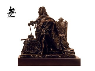 Fernando  Andrea; Le Roi Soleil 1701, 2019, Original Sculpture Bronze, 14 x 10 inches. Artwork description: 241 BY FERNANDO ANDREASCALE 1: 6 BRONZE SCULPTURELIMITED EDITION  20 copies WOODEN BASE and CERTIFICATE OF AUTHENTICITY INCLUDED  Wax Stamp and signature of the sculptor In 1701 Hyacinthe Rigaud executed the famous portrait of Louis XIV that eventually would arguably become the most recognisable icon for ...
