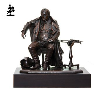 Fernando  Andrea; Napoleon A Fontainebleau, 2018, Original Sculpture Bronze, 8 x 9 inches. Artwork description: 241 BY FERNANDO ANDREASCALE 1: 6 BRONZE SCULPTURELIMITED EDITION  20 copies WOODEN BASE and CERTIFICATE OF AUTHENTICITY INCLUDED  Wax Stamp and signature of the sculptor HISTORYThe importance of Napoleon BonaparteA's role in European history is self- evident, and needs no further remarks. This famous ...