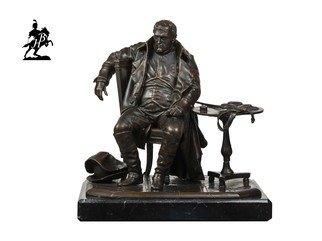 Fernando  Andrea; Napoleon A Fontainebleau S, 2018, Original Sculpture Bronze, 6 x 5 inches. Artwork description: 241 BY FERNANDO ANDREASCALE 1: 10 BRONZE SCULPTURELIMITED EDITION  20 copies MARBLE BASE and CERTIFICATE OF AUTHENTICITY INCLUDED  Wax Stamp and signature of the sculptor HISTORYThe importance of Napoleon BonaparteA's role in European history is self- evident, and needs no further remarks. This famous ...
