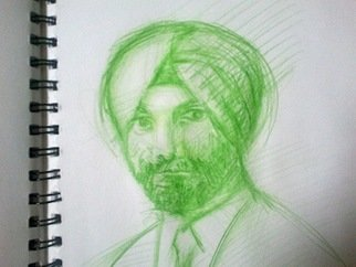 Waldemar A. S. Buczynski; Study Of A Migrant, 2008, Original Drawing Other, 210 x 297 cm. Artwork description: 241     A sketch of a migrant man from India, 23rd October, 2008, Sydney Road, Brunswick, Victoria, Australia.          ...
