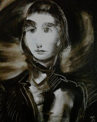 Waldemar A. S. Buczynski; Young Horatio Nelson, 2011, Original Painting Acrylic, 61 x 61 cm. Artwork description: 241  Detail from a preparatory sketch.                ...