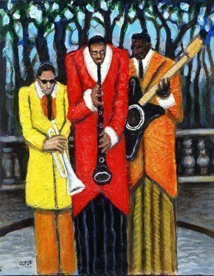 Hampton  Olfus ; Jazz In The Park, 2004, Original Drawing Pen, 8 x 10 inches. Artwork description: 241 This piece is part of the ongoing series on music. It was created with acrylic paint on canvas. ...