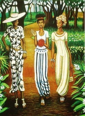 Hampton  Olfus ; Walk This Sway, 2004, Original Giclee Reproduction, 20 x 30 inches. Artwork description: 241 This a giclA(c)e print on canvas of the acrylic painting, titledWalk This Sway , which was part of a successful series about women. ...