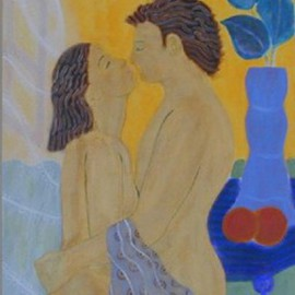 Nikos Hondos, , , Original Painting Acrylic, size_width{Honeymoon-1043609461.jpg} X 37 inches