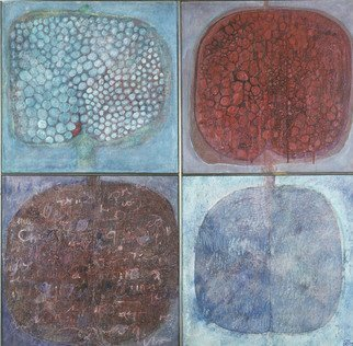 Hope Brooks, Mixed Media, 1970, Original Mixed Media, 48 x 48  x 2 inches