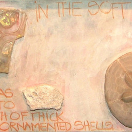 Hope Brooks, , , Original Collage, size_width{Shells_and_Stones_revisited_panel_6-1205692889.jpg} X 8 inches
