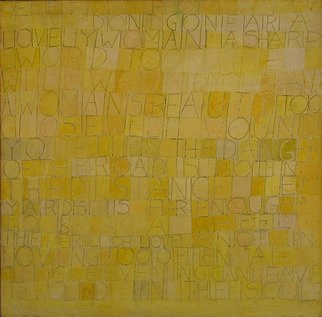 Hope Brooks; poem Painting III, 1971, Original Painting Other, 24 x 24 inches. Artwork description: 241  Poem Painting III uses writing as its image and there are six paintings in the series.   This painting is a poem by Meng Chaio from the late Tang period of Chinese poetry, titled