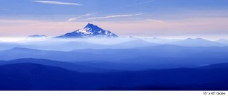 Harvey Horowitz; Mt Jefferson, 2007, Original Photography Color, 45 x 15 inches. Artwork description: 241  Giclee Fine Art Canvas 45