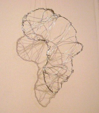 Houda Khalladi; Africa, 2012, Original Sculpture Steel, 100 x 70 cm. Artwork description: 241    nature   ...