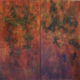 Houda Khalladi; Feuillage, 2011, Original Mixed Media, 100 x 70 cm. Artwork description: 241  nature ...