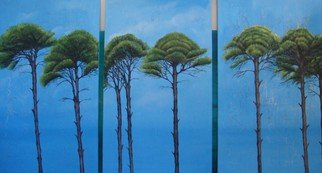 Houda Khalladi; Trees, 2008, Original Mixed Media, 5 x 100 cm.
