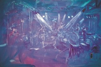 Bob Gammage; Jonahs Road, 2007, Original Painting Acrylic, 1700 x 1200 mm. Artwork description: 241  Live event artscape painted at the Gympie Muster, Queensland Australia.  Painted live at the event in under 4 hours. ...