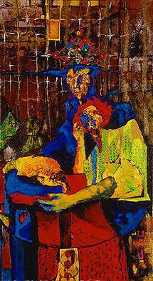 Vladimir Hristov; In The Waiting Room, 2002, Original Painting Acrylic, 100 x 180 cm. Artwork description: 241 browse to see larger image:- www. hristov7. 4t. com...