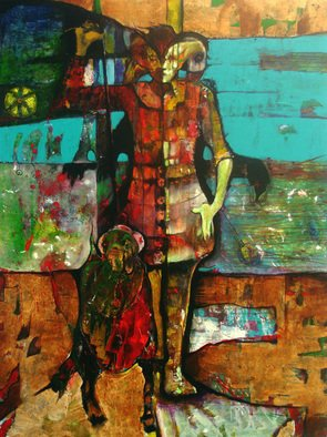 Vladimir Hristov; St George With His Dog, 2008, Original Painting Acrylic, 120 x 160 inches.