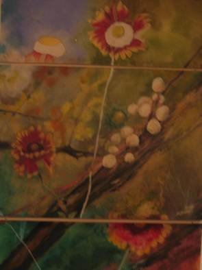 Helen Rodrigues; Nature In 3 Parts, 1994, Original Painting Oil, 36 x 48 inches. Artwork description: 241   oil on mylar...