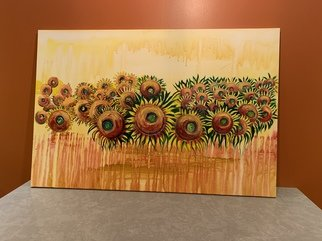 Helen Rodrigues; Sunflowers, 2021, Original Painting Acrylic, 4 x 2 inches. Artwork description: 241 Acrylic on canvas. ...