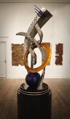 Hunter Brown; legacy i, 2018, Original Sculpture Steel, 2.6 x 8 feet. Artwork description: 241 Contemporary stainless steel sculpture constructed in marine grade stainless steel. ...