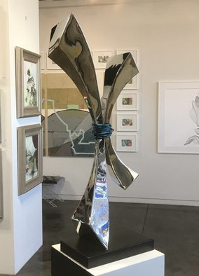 Hunter Brown; soul tie, 2018, Original Sculpture Steel, 18 x 52 inches. Artwork description: 241 Modern mirror polished sculpture constructed in marine grade stainless steel. ...