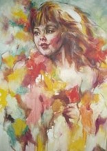 Artist: Hyacinthe Kuller-Baron's, title: ALICE FLOWERS GICLEE, 2010, Painting Oil