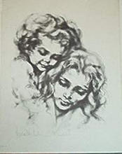 Artist: Hyacinthe Kuller-Baron's, title: MOTHERHOOD, 1969, Printmaking Lithography