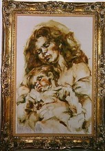 Artist: Hyacinthe Kuller-Baron's, title: Mother and Child, 1966, Painting Oil