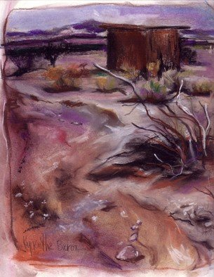 Hyacinthe Kuller-Baron; Pastell And Scap, 2007, Original Pastel Oil, 8 x 11 inches. Artwork description: 241   Oil Pastel drawing of the Baron Conservancy in the desert. On archival paper, 8