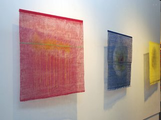 Hye Shin; JIA Art Gallery Exhibition, 2010, Original Fiber, 30 x 30 inches. Artwork description: 241  Woven fiber wall- hanging shows the abstract image derived from atmospheric landscape.  ...