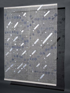 Hye Shin; Monday Morning Rain, 2010, Original Fiber, 5 x 7 feet. Artwork description: 241 Woven fiber wall- hanging shows the abstract image derived from atmospheric landscape.  ...
