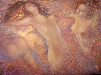 Irena Dukule; Swimmers, 2008, Original Painting Oil, 121 x 91 cm.