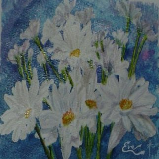 Eve Co, 'Daisys', 2007, original Watercolor, 8 x 5  x 1 inches. Artwork description: 1911  Daisies  Daisy's for Denises birthday because I miss her. . .   ...
