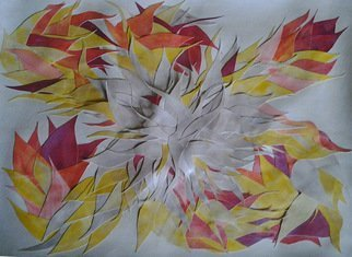 Eve Co, FIRE FLOWER, 2013, Original Watercolor, size_width{FIRE_FLOWER-1374882644.jpg} X 18 x  inches