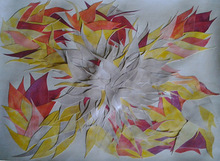 Artist: Eve Co's, title: FIRE FLOWER, 2013, Watercolor