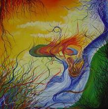 Artist: Eve Co's, title: Fire meets Magic, 2006, Painting Acrylic