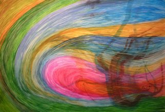 Eve Co; Out Of Control, 2011, Original Watercolor, 24 x 18 inches. Artwork description: 241 Title Out of ControlCompleted 01022011Size 24 x 18WatercolourSwirl studies.  Eachshape melds into the other.  Vibrant colors ranging from magenta, green, blue, yellow and black ...